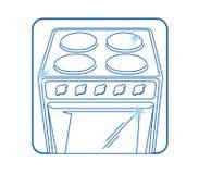 Bianco dell'icona della stufa di cucina Fotografia Stock