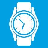 Bianco dell'icona dell'orologio royalty illustrazione gratis
