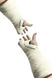 Bianco dell'intonaco su bianco Fotografie Stock Libere da Diritti