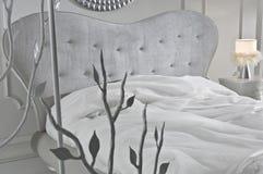 bianco della camera da letto Immagine Stock Libera da Diritti