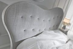 bianco della camera da letto Fotografia Stock