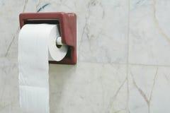 Bianco della carta igienica per pulire Fotografie Stock