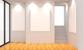 Bianco della galleria Immagini Stock Libere da Diritti