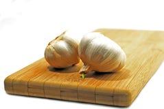 Bianco della lampadina dell'aglio Immagine Stock Libera da Diritti