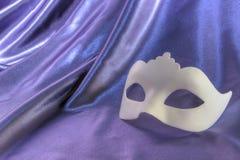 Bianco della maschera di carnevale Fotografia Stock