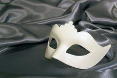 Bianco della maschera di carnevale Fotografie Stock