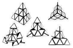 Bianco della piramide, ` s di Rubik Fotografie Stock