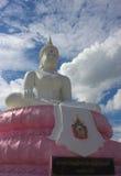 Bianco della statua della Tailandia di lopburee di religione di Buddha Fotografie Stock Libere da Diritti
