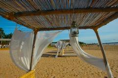 bianco della tenda del tessuto Fotografie Stock