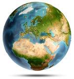 Bianco della terra isolato rappresentazione 3d Fotografie Stock