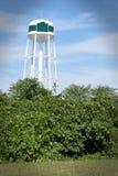 Bianco della torre di acqua Immagine Stock