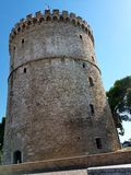 bianco della torretta di Salonicco Fotografia Stock