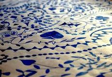 Bianco di carta blu dell'inchiostro astratto del materiale illustrativo fotografie stock libere da diritti
