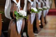 bianco di cerimonia nuziale del fiore della decorazione Immagine Stock
