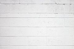 Bianco di Cinder Block Wall Texture Painted Immagini Stock Libere da Diritti