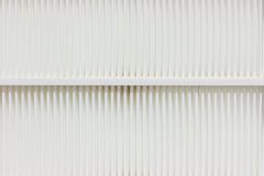 Bianco di filtro dell'aria. Fotografie Stock