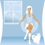 Bianco di inverno Fotografia Stock