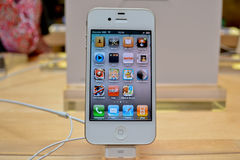 Bianco di Iphone 4 Fotografia Stock