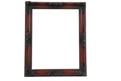 Bianco di legno antico del frameon Fotografia Stock Libera da Diritti