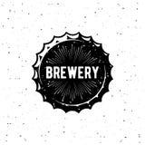 Bianco di lerciume del tappo di bottiglia della fabbrica di birra Illustrazione di vettore Illustrazione di Stock