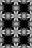 Bianco di Nouveau di arte sulla carta da parati nera Immagine Stock