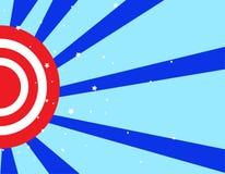Bianco di rosso blu delle bande & delle stelle illustrazione di stock