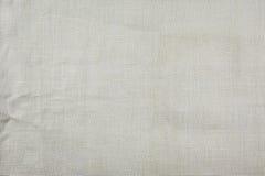 Bianco di tela naturale di struttura del tessuto Fotografie Stock Libere da Diritti