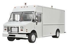 Bianco di Van car Immagine Stock