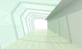 Bianco di vetro della stanza Fotografia Stock