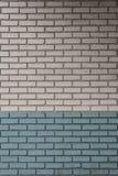Bianco e Aqua Painted Bricks fotografia stock libera da diritti