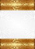 Bianco e fondo dell'oro royalty illustrazione gratis