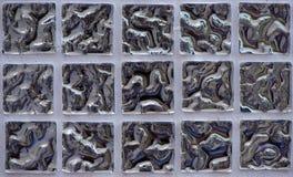 Bianco e grigio la foto o il mattone reale di alta risoluzione della parete delle mattonelle senza cuciture e fondo dell'interno  Fotografie Stock