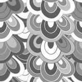 In bianco e nero astratto disegnato a mano di scarabocchio di vettore Fotografie Stock Libere da Diritti