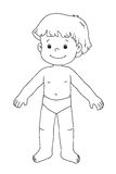 In bianco e nero - bambino maschio Fotografie Stock