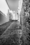 In bianco e nero del centro urbano Fotografia Stock Libera da Diritti