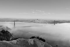 In bianco e nero di golden gate bridge Fotografie Stock Libere da Diritti