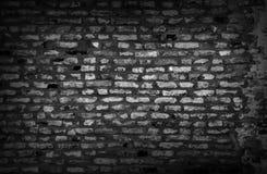 In bianco e nero di vecchio fondo del muro di mattoni del gundge Fotografia Stock