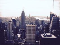 Bianco e nero NYC fotografie stock