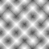 In bianco e nero senza cuciture aggrovigliato intorno alle bande Modello geometrico strutturato Immagine Stock Libera da Diritti