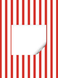 Bianco e striscia rossa Fotografia Stock Libera da Diritti