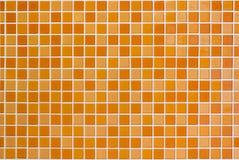 Bianco ed arancio la foto o il bri reale di alta risoluzione della parete delle mattonelle Immagini Stock Libere da Diritti