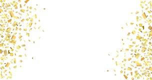 Bianco giallo dei coriandoli Fotografia Stock