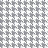 Bianco & Gray Fabric Pattern Texture del pied-de-poule Fotografie Stock