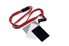 Bianco grigio e blackcard Fotografia Stock Libera da Diritti
