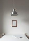 Bianco interno minimalista Immagini Stock