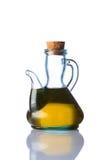 Bianco isolato dell'olio da cucina della bottiglia di Rustical Immagini Stock