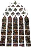 Bianco isolato di signora Chapel Wells Cathedral del vetro macchiato fotografia stock libera da diritti