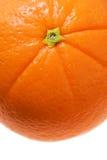Bianco isolato particolare arancione Fotografia Stock Libera da Diritti