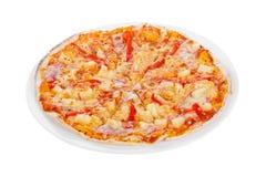 Bianco isolato pizza fotografia stock