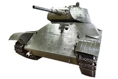 Bianco isolato T-50 leggero sovietico del carro armato Immagine Stock Libera da Diritti